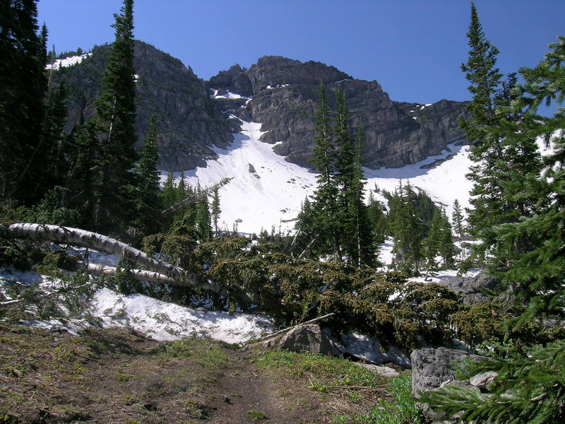 Devils Castle from Albion Basin