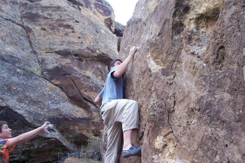 Zack climbing