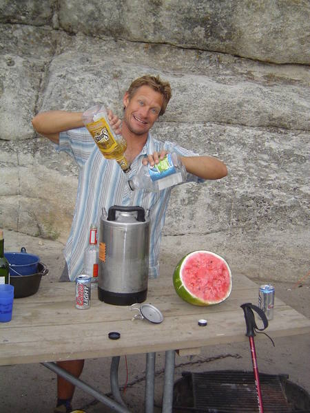 Mixin' it up for Margarita Night at our COR Campsite