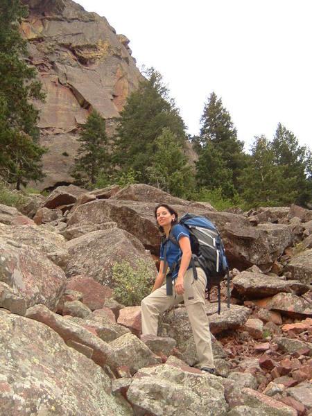 me after climbing Peanuts in Eldorado
