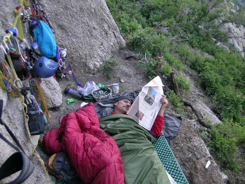 Amazing to have Newspaper delivery waking up at the bivy!