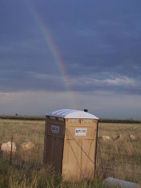 At the end of every rainbow is a potty of gold.