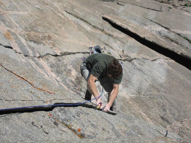 Eric Johnson pulling the roof on P3.  Splitter, fresh granite.