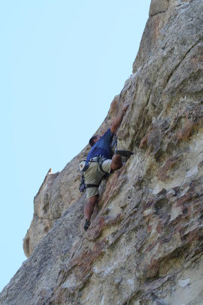 Brian in the lower steep section of this PERFECT route, MUST DO!!