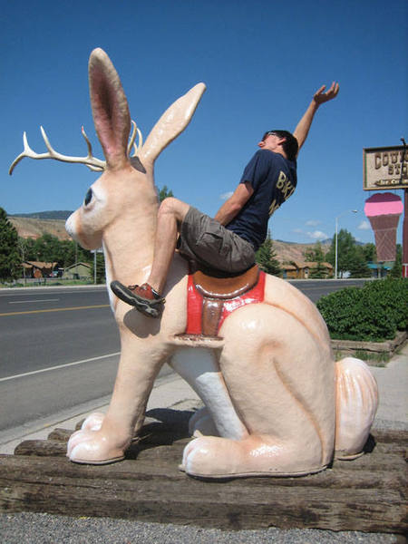 Back in Dubois, we tamed a wild jackalope.