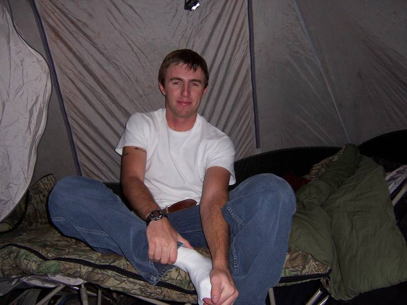me in tent<br>