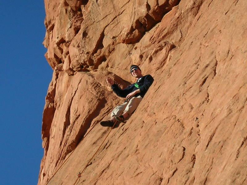 """Stephen Zeglen relaxing after nailing """"Unzipped""""."""