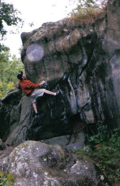Bouldering in Minn., I think Taylor Falls, with BThurm.