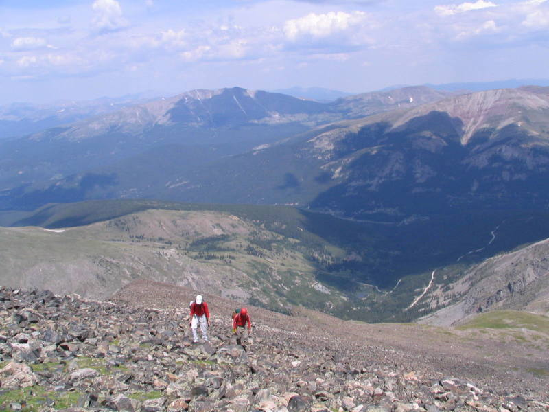 Hiking the last 500 feet.