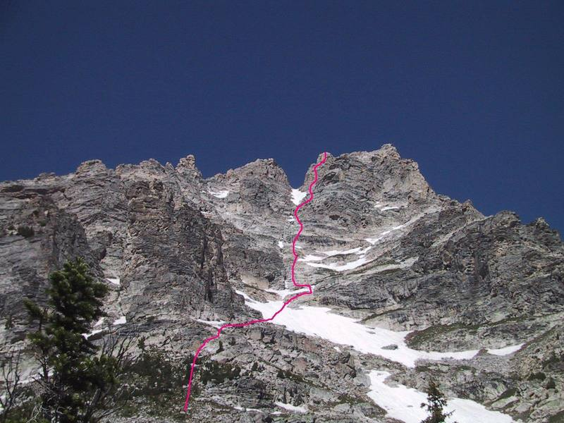 View of the route from about 9500'.