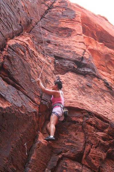Thu following 757 2X4; first climb outside, yippee!