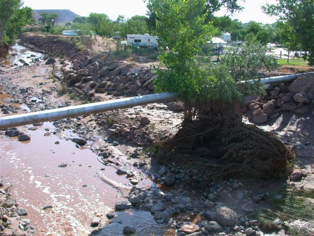 This was taken 24 hours after flash flooding that occurred on July 28th, 2006. Just a warning about how violent the weather can be in Zion. Especially take note if you are going up the big walls.