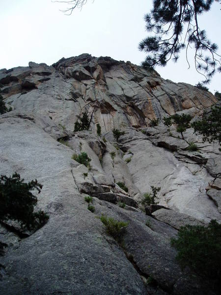 From below the lower slabs.