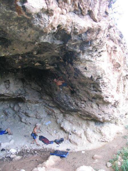 Random climber at Crystal Cave.