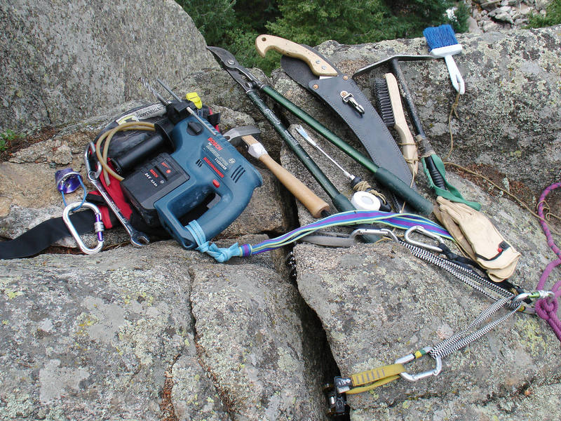 The route maker's tools of the trade.