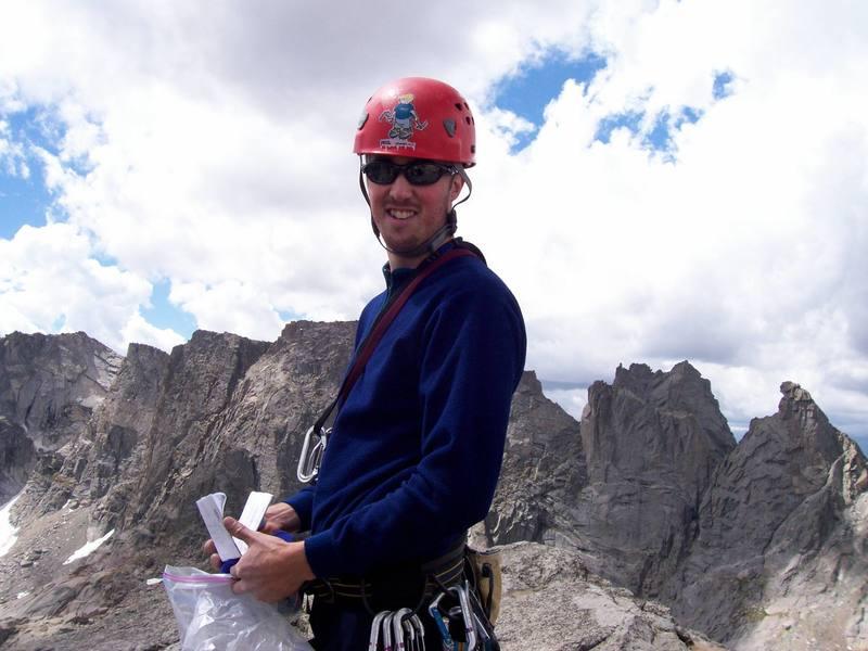 Armin on summit of pingora
