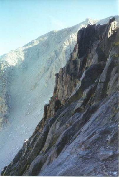 On route?  Jeff Crow on Moon Goddess Arete, circa April 2000.