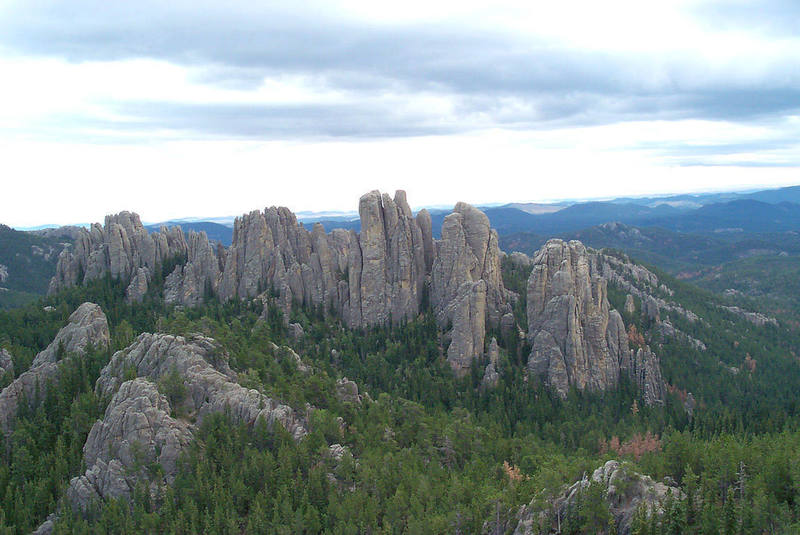 Cathedral Spires from the north atop Little Devils Tower