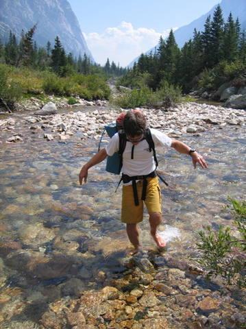 Crossing Cascade Creek.
