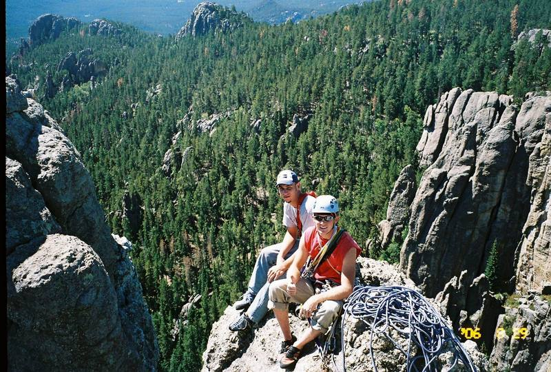 Rick Phillips and Gary Marowelli on top on Spire #2