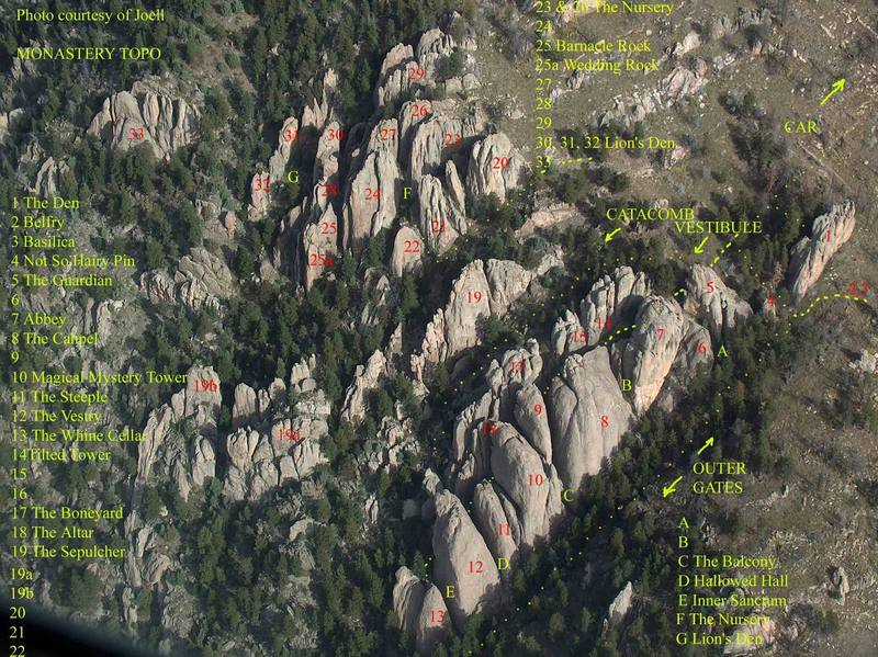 Topo draft.  Feedback is welcome.  This is draft #2.  There northern crag identification is not definite.  Thanks, [[Joel]]12939, for the photo!!!