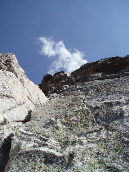 Cool last pitch of Whodunit on Tahquitz.