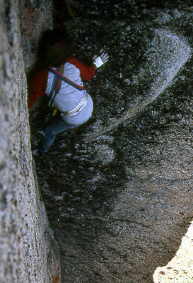 """First Ascent of """"Magic Book"""".<br> Photo by Blitzo."""