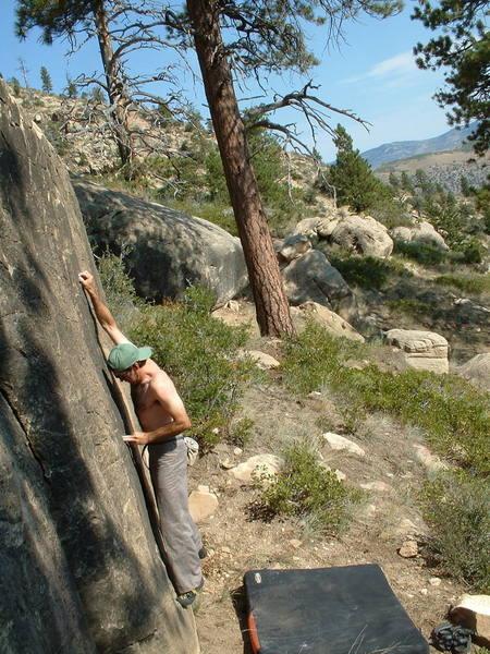 Timmy Fearn @ Price Canyon - Wagon Wheel Area - Broken Mirror Boulder - Broken Mirror V3