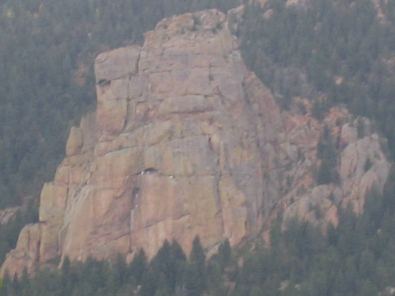 This is the southern crag, Specimen Rock, and it is highly visible from High Drive.