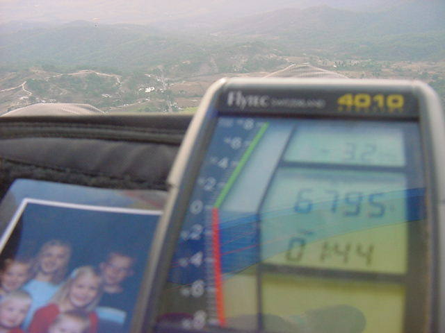 A view of my flight deck at 6795 feet.  Coming in for a landing in Malinalco Mexico.