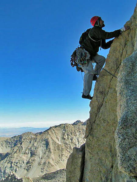 Mt. Whitney's East Buttress, just below the Peewee.  Photo by Tauru.