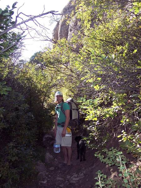 """Penitente Canyon on the way to """"The Rock Garden"""""""