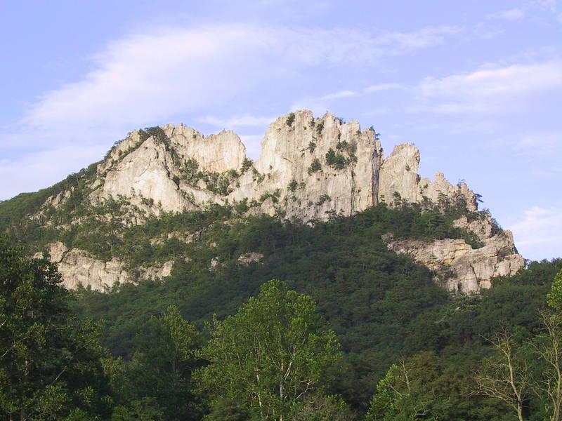 The West Face of Seneca Rocks