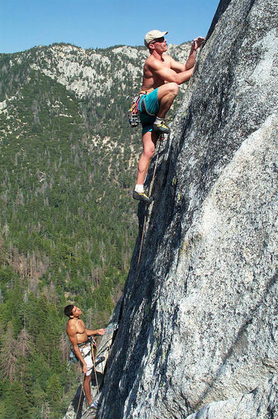 Me and AJ Burch on the second pitch of Etude.  Photo by Tony Grice.