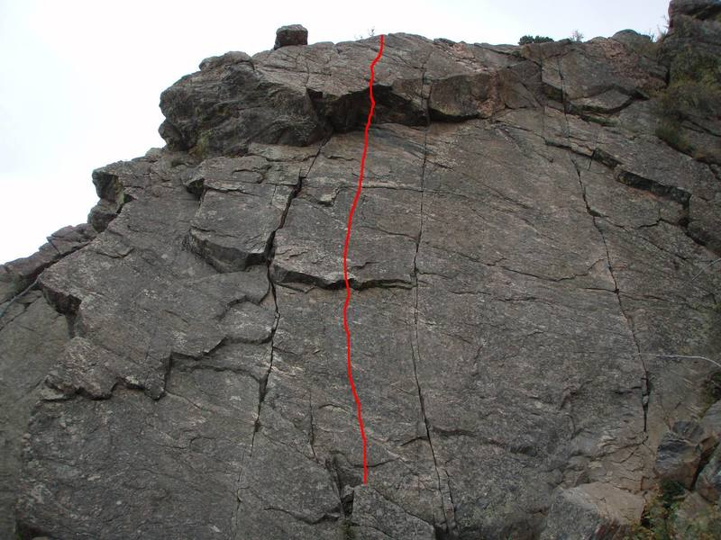 The 5.10 face route (sport).