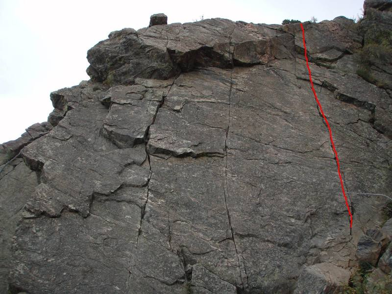 The 5.8 crack (trad).