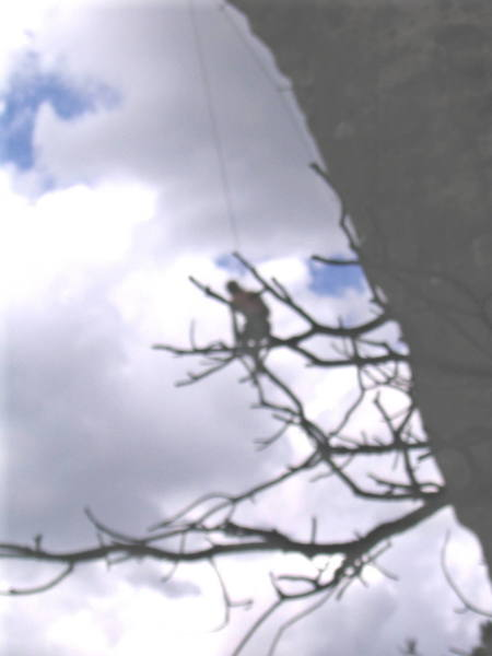 Ahhhhhh, DAMN! After about 40 feet of air (that's a short one! He took bigger while working the route). He later did send about 3 weeks later.