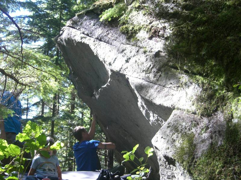 Humble Mumble on the Outkast Boulders.