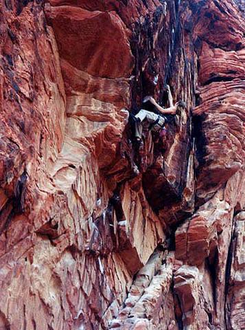 Climbing at Sweet Pain Wall.<br> Photo by Blitzo.