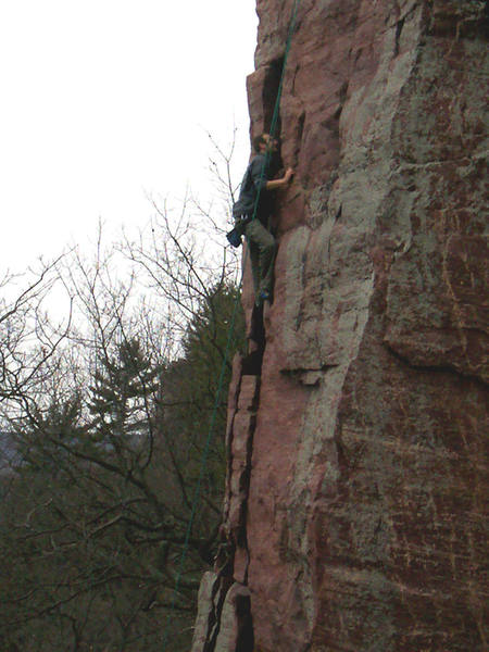 First climb outside on rock! (Shortly after recovering from C4 neck fracture)