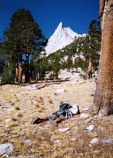 I seem to be wearing out my climbing partners. Sean - on approach to Cathedral Peaks, Tuolumne.
