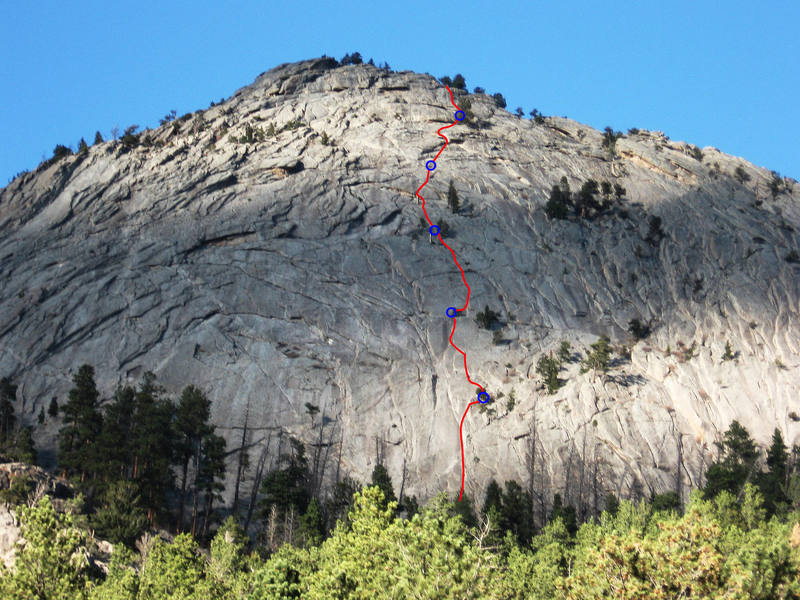 You might call this route Indirect Camel, as it combines two lines more or less.