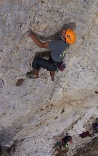 still posing, but did send!<br> I gave 'em the bad beta that this was a long 5.8...<br> turns out Greg says it's 5.11a