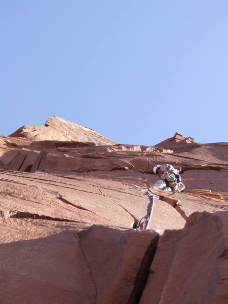 right before the crux pitch on fine jade