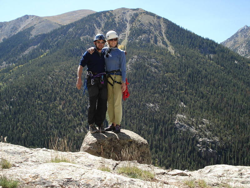 Beth n Mark topped out on Independance Pass<br>