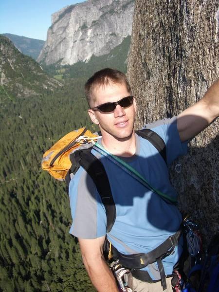 Midway through Skull Queen, El Cap in background.