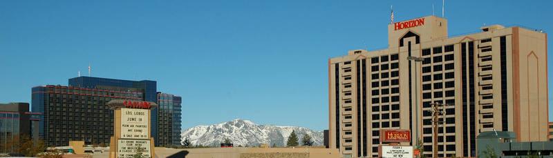 Stateline, Nevada at Lake Tahoe.<br> Photo by Blitzo.