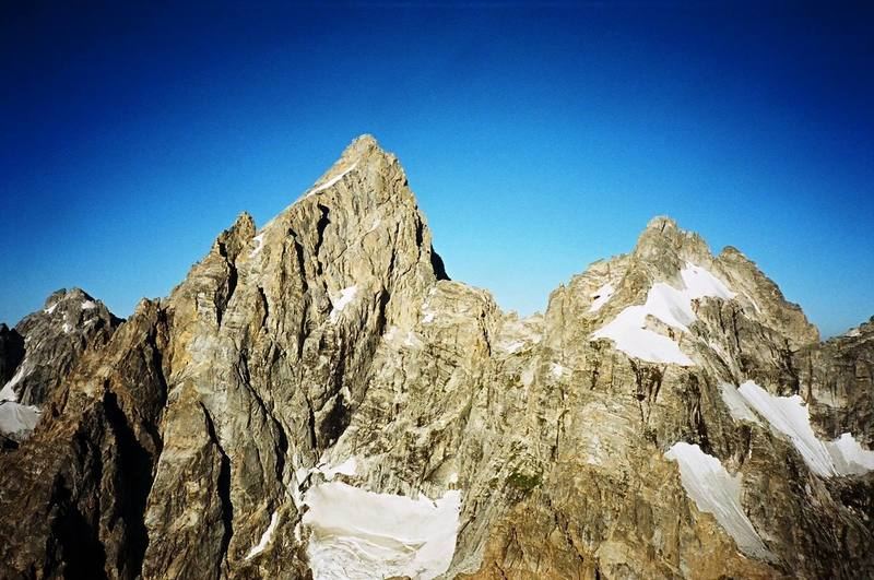 Grand Teton and Mount Owen from Teewinot(summer 2006).