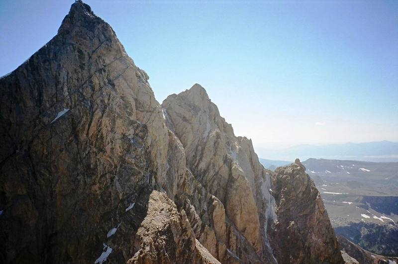 North Face of the Grand Teton and the Enclosure from the summit of Owen, Summer 2006.