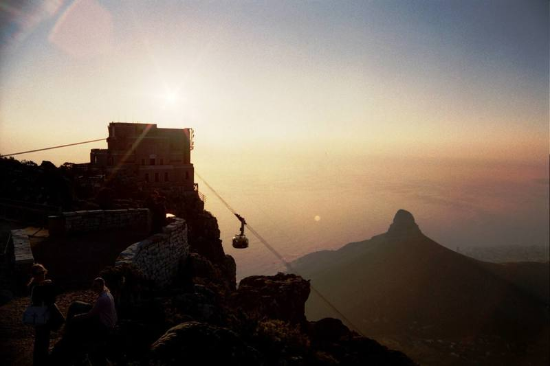 Climbing at Table Mountain, South Africa 2002.